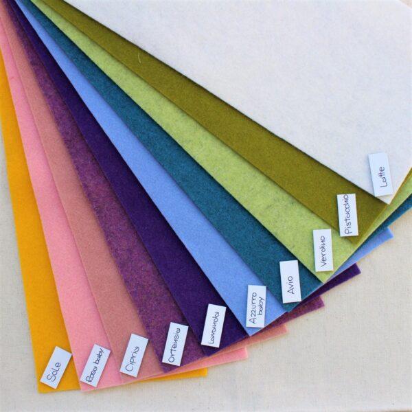 Nuovi colori feltro - Cose di Laura creatività in feltro