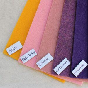 Nuovi colori feltro: sole, rosa baby, cipria, ortensia, lavanda - Cose di Laura creatività in feltro