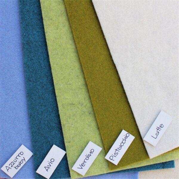 Nuovi colori feltro: azzurro baby, avio, verdino, pistacchio e latte - Cose di Laura creatività in feltro
