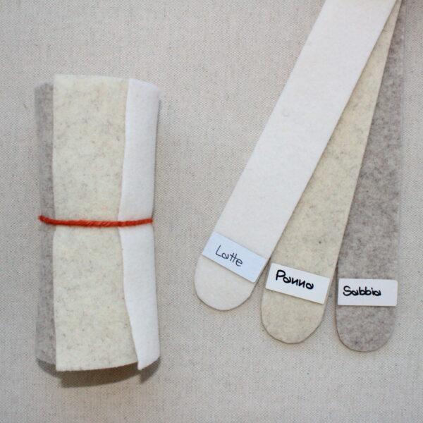 Girella feltro 2 mm latte, panna e sabbia - Cose di Laura creatività in feltro