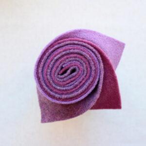 Girella feltro 2 mm lilla, malva e ortensia - Cose di Laura creatività in feltro