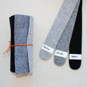 Girella feltro 2 mm perla, grigio e nero - Cose di Laura creatività in feltro