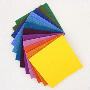 Quadrotto in feltro 3mm arcobaleno - Cose di Laura creatività in feltro