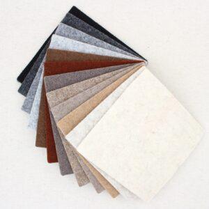 Quadrotto in feltro 3mm panna, marrone e grigio - Cose di Laura creatività in feltro