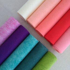 Nuovi colori pannolana - Cose di Laura creatività in feltro