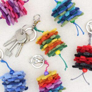 Portachiavi puzzle in feltro - Cose di Laura creatività in feltro