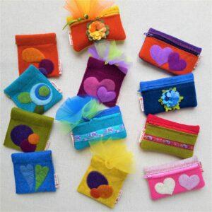 Idee per bomboniere: astucci e portamonete - Cose di Laura creatività in feltro