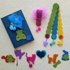 Idee per bomboniere: segnalibri in feltro - Cose di Laura creatività in feltro