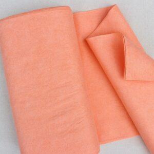 Panno lana al metro color rosa corallo - Cose di Laura creatività in feltro