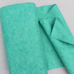 Panno lana al metro color tiffany melange - Cose di Laura creatività in feltro