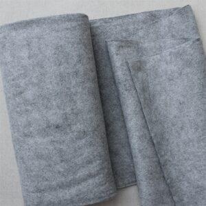 Panno lana al metro color grigio - Cose di Laura creatività in feltro