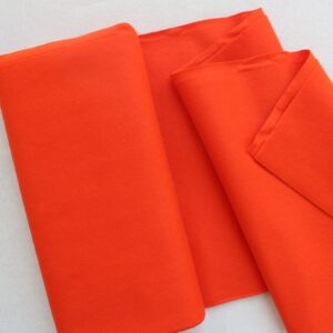 Panno lana al metro color arancio scuro - Cose di Laura creatività in feltro