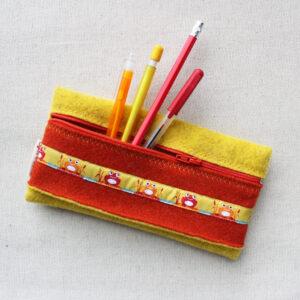 Astuccio giallo e arancio - Cose di Laura creatività in feltro