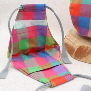 Mascherina in cotone con tasca per filtro - Cose di Laura creatività in feltro