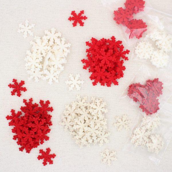 Bustine fiocchetti di neve in feltro - Cose di Laura creatività in feltro