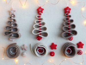 Kit per creare alberelli di Natale - Cose di Laura creatività in feltro