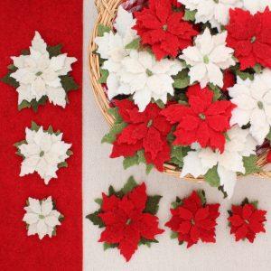 Stelle di Natale in feltro di lana - Cose di Laura feltro
