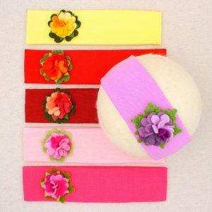 Fasce per capelli con fiore in panno lana - Cose di Laura creatività in feltro