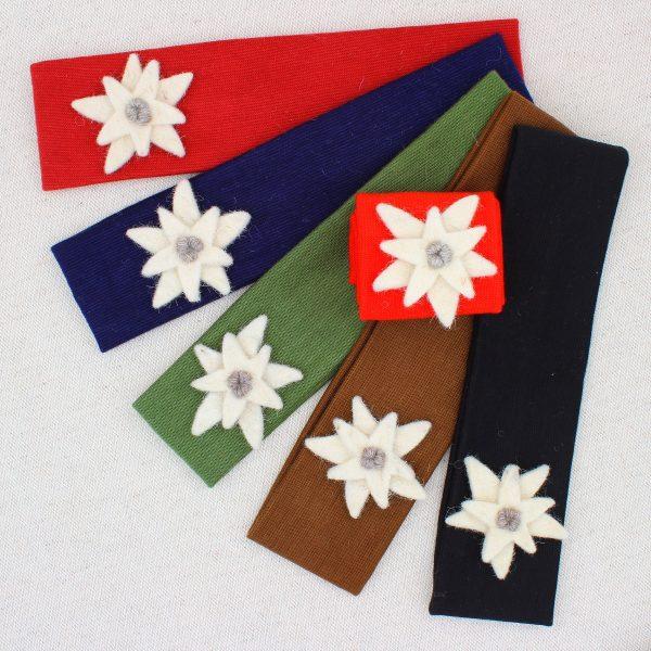 Fasce per capelli con stella alpina in panno lana - Cose di Laura creatività in feltro
