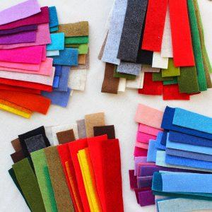 Busta di strisce/cimose di feltro 2 mm assortite in vari colori - Cose di Laura creatività in feltro