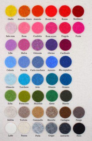 Campionario colori sagome in feltro - Cose di Laura creatività in feltro