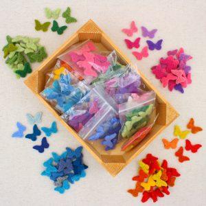 Mix farfalline in feltro - Cose di Laura creatività in feltro