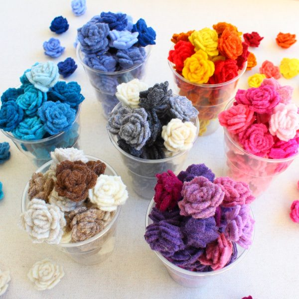 Rose 3d in feltro - Cose di Laura creatività in feltro